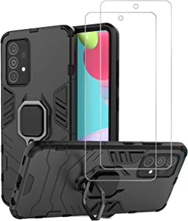 Urspasol for Samsung Galaxy A52 Case with Screen Protector Tempered Glass Hybrid Heavy Duty Armor Protective Bumper Cover ...