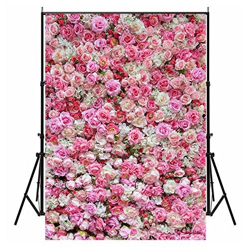 WCIC 150cmX210cm Foto Hintergründe, Romantische Blume Wand Fotografie Studio Hintergrund für Hochzeit Valentinstag Xmas Baby New Born Geburtstag Party, Model C-226