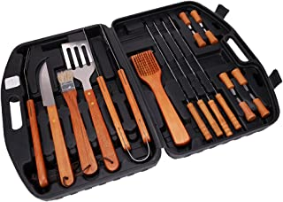 Xena 18 Piece BBQ Tools Set Kit Case Stainless Steel Grill Cooking Outdoor Utensils Professional Grilling Accessories for ...