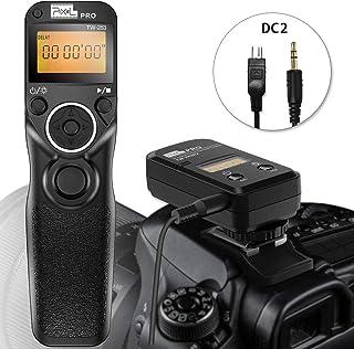 Wireless Remote Shutter for Nikon, Pixel TW-283 DC2 Wireless Shutter Release Cable Timer Remote Control for Nikon D7500 D3300 D5000 D5500 D7200