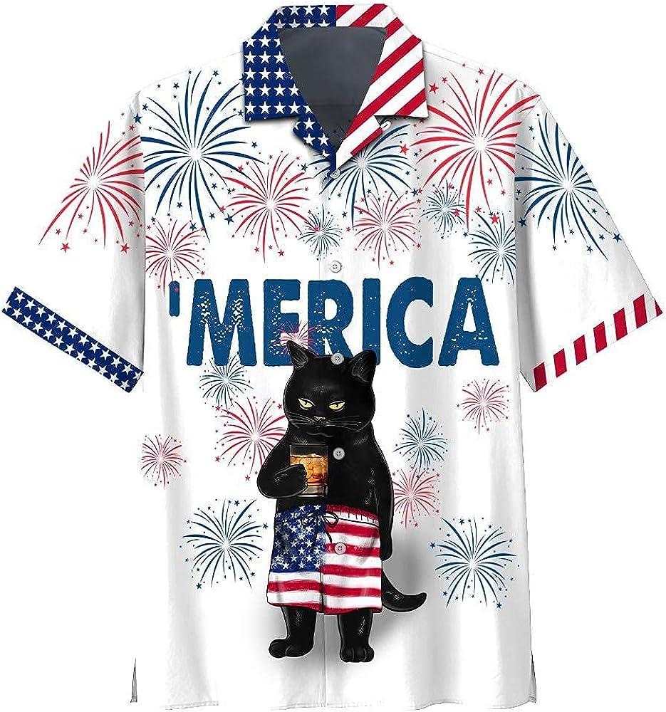 Golden Store US - Black Cat Hawaiian Short Bourbon Drink Super-cheap Shirts 35% OFF