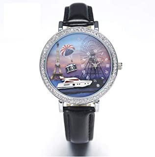 3D Pattern Womens Watch, Handmade Cute Retro Rabbit Fashion Watches for Women, Quartz Ladies Wrist Watch Green