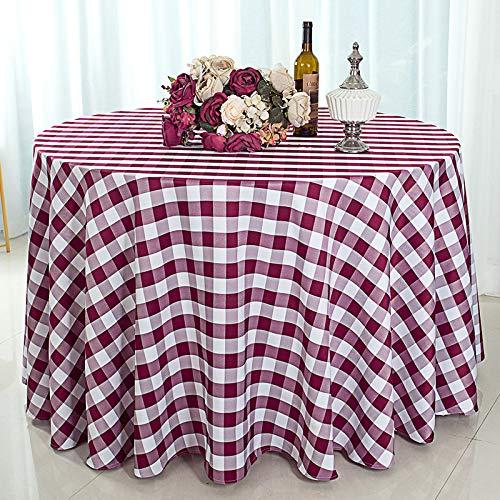 marca blanca Mantel de poliéster sólido impreso floral moderno redondo mantel boda restaurante fiesta (multicolor) 2.0m