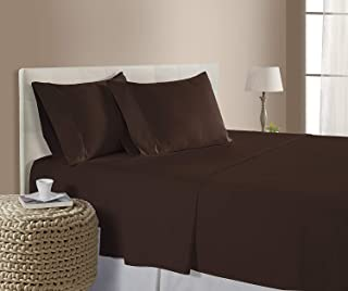 Hotel Luxury 1500 Thread Count 4-Piece Bed Sheet Set Authentic Heavy Egyptian Cotton Fits Mattress 15