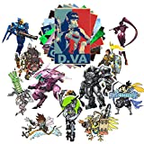 GTOTd Stickers for Game Character Overwatch (20-Pcs/Large Size). for Laptop,Kids,Cars,Motorcycle,Bicycle,Bumper Stickers Hippie Decals Bomb Waterproof(Not Random)