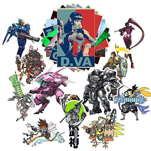 Laptop-Aufkleber, Cartoon-Design Overwatch A