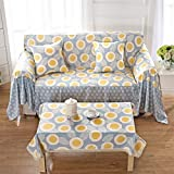 JiaQi Four Seasons Todo Incluido Funda de sofá,Universal Protector de los Muebles para 1 2 3 4 Cojines sofá Cubierta del Brazo del sofá-M 120x160cm(47x63inch)
