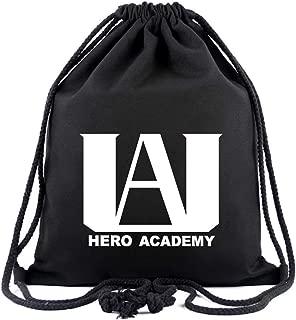 My Hero Academia U.A High School Logo Drawstring Backpack Sack Pack Gym Traveling Storage Bag