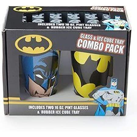 DC Comics Batman Glass and Ice Cube Tray Combo Pack