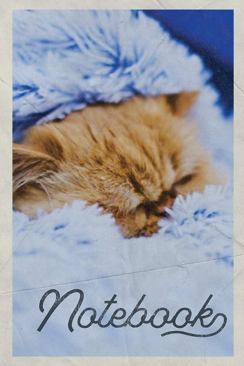 代わって領域前提条件Notebook: Kitty Blanket Charming Composition Book Journal Diary for Men, Women, Teen & Kids Vintage Retro Design cat fleece fabric