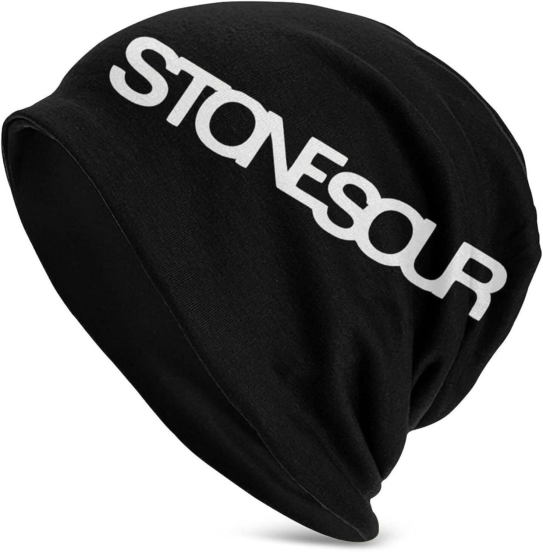 PeterLLowery Stone Sour Slouchy Cap Adult Men's Knit Hat Warm Snug Decorative Hat Knit Balaclava Black
