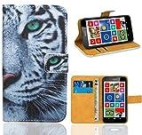 FoneExpert® Nokia Lumia 630 Handy Tasche, Wallet Hülle Flip Cover Hüllen Etui Ledertasche Lederhülle Premium Schutzhülle für Nokia Lumia 630