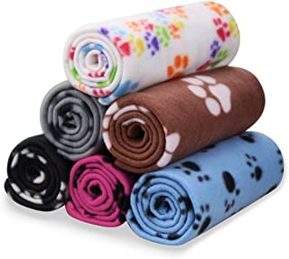 Comsmart Pet Blanket Dog Cat Soft Fleece Blankets Sleep Mat Pad Bed Cover with Paw Print for Kitten Puppy and Other Small ...