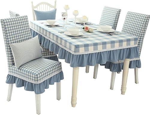 Tissu de table de jardin frais coton épais plaid américain moderne Gabu nappe de lac bleu (taille   140  80cm+23cm)