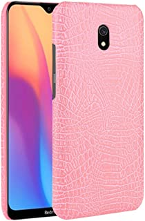 For Xiaomi Redmi 8A Shockproof Crocodile Texture PC + PU Case New (Black) Hopezs (Color : Pink)