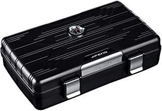 LBLMSB Cigar Humidor, Carrying Case, Travel Seal Waterproof Moisture Cabinet, Cigar Case, Black, Silver, Red Latest Styles (Color : Black)