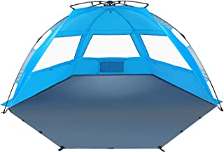 TAGVO Pop Up Beach Tent Sun Shelter con Puerta de Entrada, F