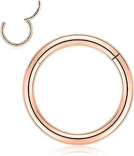 20G 18G 16G 14G 12G 10G 8G Clicker Segment Seamless Hoop Nose Ring Septum Ring Unisex Hoop Earrings Easy Use Body Piercing Ring 2 Pcs