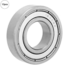 Hyuduo 10Pcs Metal Precision Deep Groove Bearings Double Shielded Bearing Suitable for Small Motors (16002-ZZ)