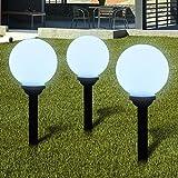 Luckyfu Lampione solare a LED da giardino 20 cm 3pz con picchetto.lampioni da giardino lampioni giardino esterno lampioni esterno lampada da giardino lampada esterno