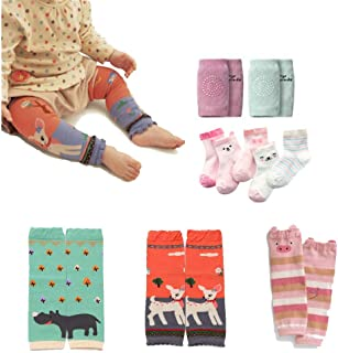 Baby Leg Warmers Leggings Knee pads socks for Toddler (pack 10 pairs)