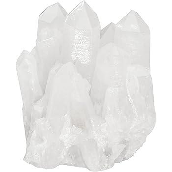 mookaitedecor Cristal de Roche Pierres et Cristaux Naturelle,Pierre Brute D/écorative pour Mineraux Collection Quartz Blanc Druse Cristal Decoratif