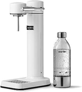 Machine à eau pétillante Aarke Carbonator 3 avec boîtier en acie finition Blanc r inoxydable et bouteille en PET de qualit...