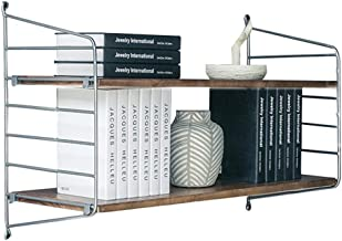 LIANGJUN Wall-mounted Storage Floating Shelves Retro Bookshelf Save Space Decoration Background Wall Restaurant Bookshelf,...