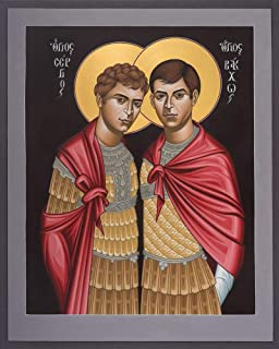 Trinity Stores Religious Art Giclee Print - 8x10 STS. Sergius and Bacchus by Br. Robert Lentz, OFM