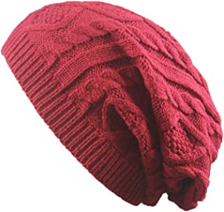 OPOO Unisex Slouchy Winter Hats Knitted Beanie Caps Men Women Soft Warm Ski Hat Cap