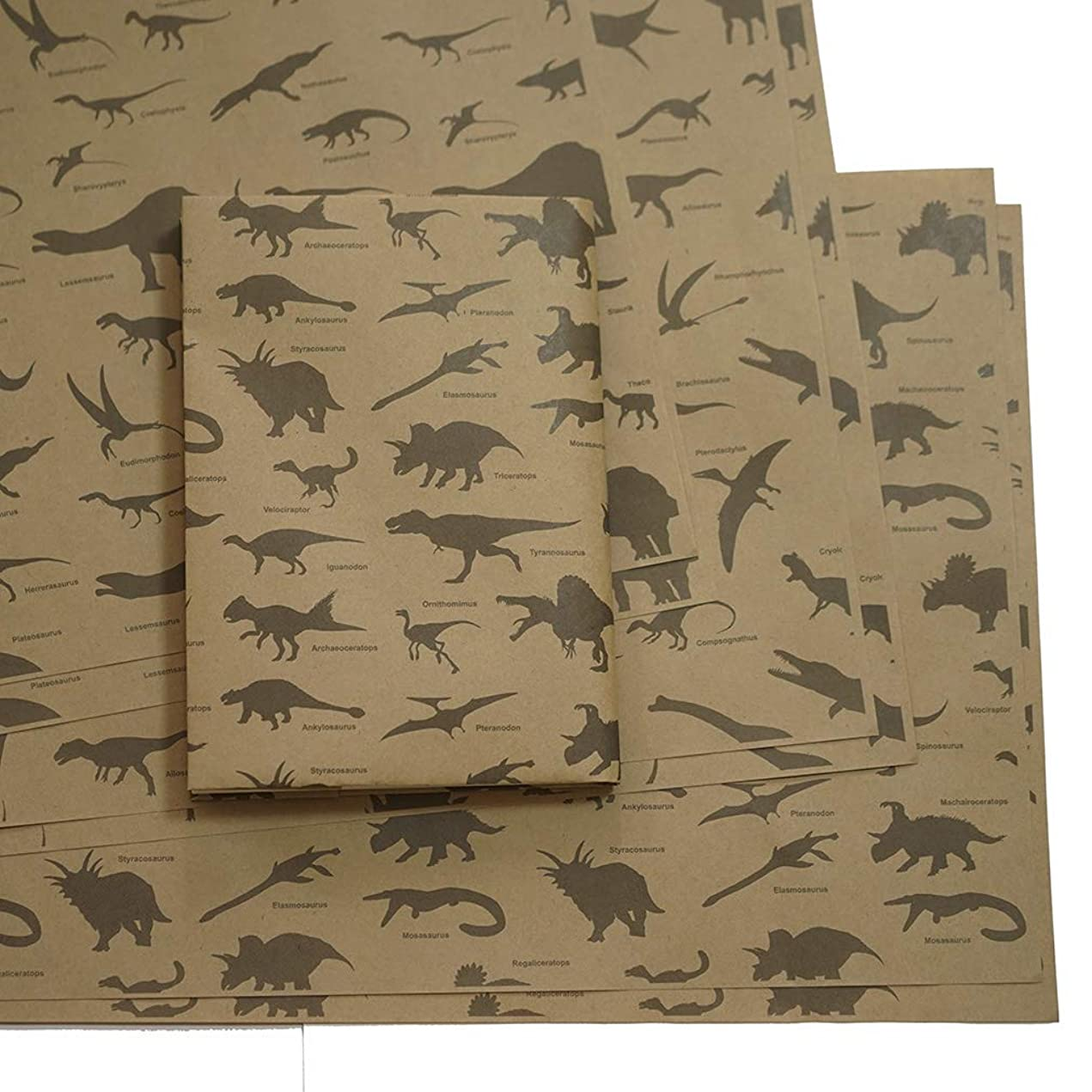 アウターメロディー退屈紙製ブックカバー 恐竜 A3判
