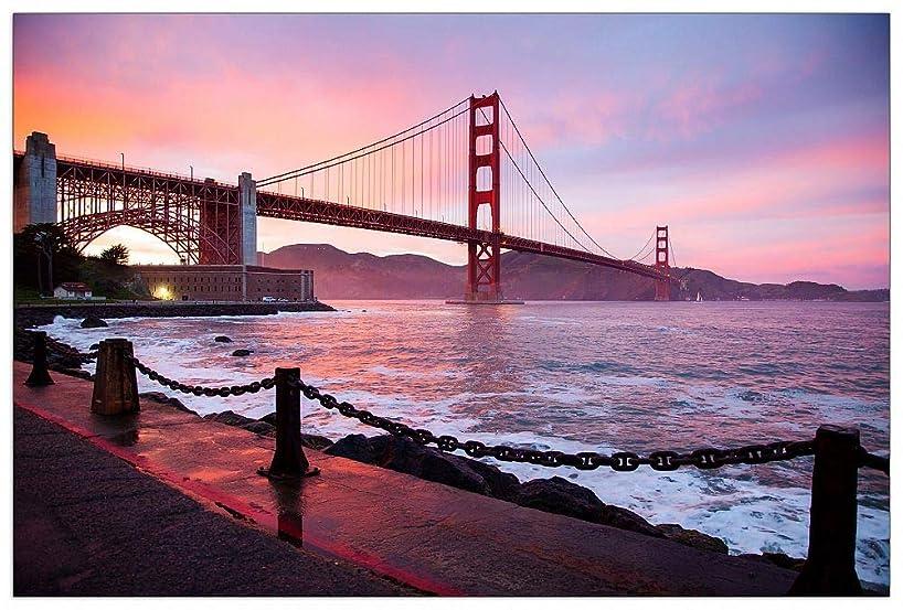 ArtPlaza TW92641 Art Studio - San Francisco Golden Gate Decorative Panel 39.5x27.5 Inch Multicolored