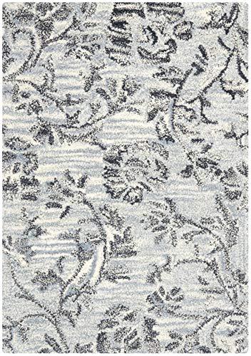 Safavieh Soho Collection SOH742B - Alfombra de lana y viscosa hecha a mano, 2 pies x 3 pies, color gris y negro