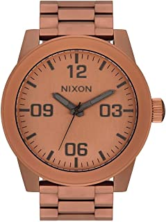 NIXON Corporal SS A359 - Matte Copper/Gunmetal - 113M Water Resistant Men's Analog Field Watch (48mm Watch Face, 24mm Stainless Steel Band)