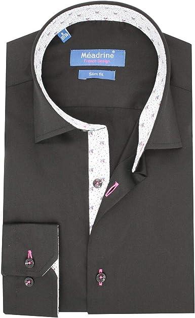 Meadrine - Camisa negra para hombre Negro XXL: Amazon.es: Ropa