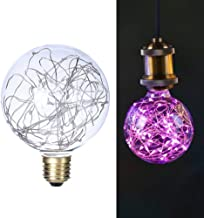 LEDMOMO Fairy Light Bulbs, G95 E27 Starry Bulb Filament Copper Wire Starry Decorative Lamp Bulb for Christmas Party Lighti...