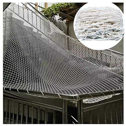 STTHOME Child Safety Net Protection Climbing Frames Child safety net, Stairs balcony handrail net, Restaurant bar decoration net Climbing net Soccer net Lawn protection net White nylon rope net