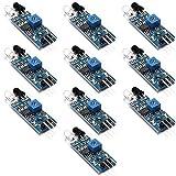 OSOYOO 10PCS IR Infrared Obstacle Avoidance Sensor Module for Arduino Smart Car Robot Raspberry PI 3.