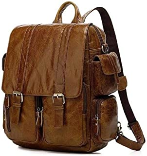 Hiking Backpack,Backpack,Laptop Backpack Large-Capacity Casual Backpack Fashion Trend Travel Bag. XFGBTJKYAUu (Color : Brown, Size : S)
