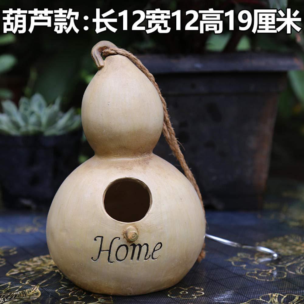 Adornos de Exterior para el jardín Colgante Creativo de decoración de Nido de pájaro@Adornos de Nido de pájaro imitación Calabaza: Amazon.es: Jardín