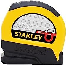 Stanley STHT33281L 25' Magnetic Tip & Fractional Read LeverLock Tape Measure