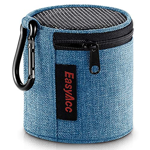 EasyAcc Tasche für Anker So&Core Mini/August MS425/ EasyAcc Mini Bluetooth Lautsprecher, Premium Tragbare Speaker Hülle Schutztasche, Reise Tragen Hülle mit Karabiner, Blau…