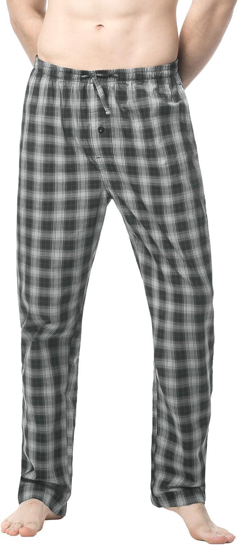 LAPASA Men's Cotton Woven Plaid Pajama Lounge Sleep Pants PJ Bottoms with Drawstring and Pockets M38
