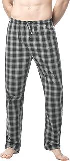 LAPASA Men's Pyjama Bottoms 100% Cotton Checked Flannel & 100% Woven Cotton Plaid Pants Loungewear Nightwear Trousers M38,...