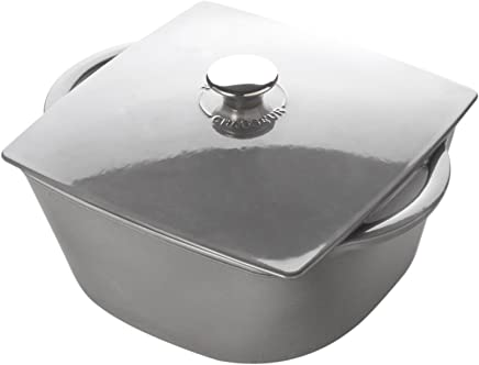 Chasseur 6-Quart Grey Rounded Square Dutch Oven
