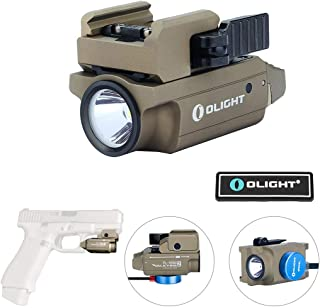 OLIGHT PL-Mini 2 Valkyrie 600 Lumens Cree XP-L HD CW Magnetic USB Rechargeable Subcompact Weaponlight with Adjustable Rail, Patch