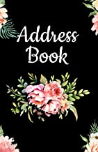 Address Book: Pretty Floral Design, Tabbed in Alphabetical Order, Perfect for Keeping Track of Addresses, Email, Mobile, Work & Home Phone Numbers, Social Media & Birthdays (Flower Notebook Journal)