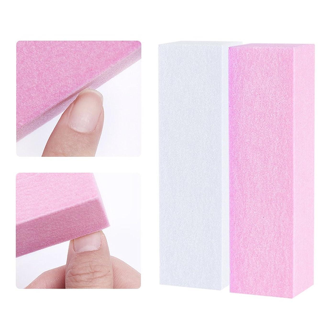 社会学必要ない辛いNICOLE DIARY 10個セット ネイルバッファー つめ磨き ピンク ホワイト ブロック ネイルアートツール [並行輸入品]