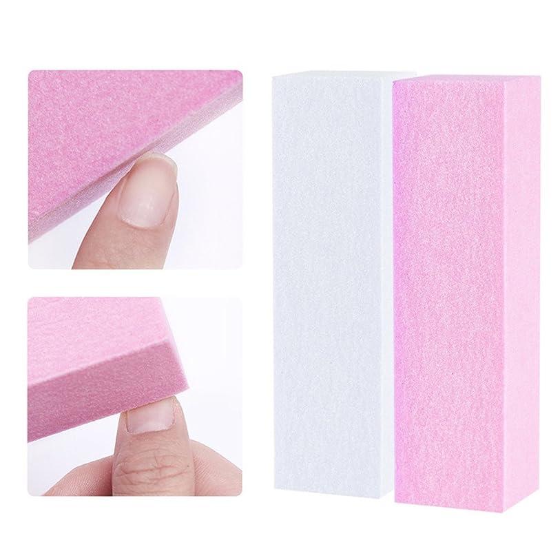 蒸気若さ歯科医NICOLE DIARY 10個セット ネイルバッファー つめ磨き ピンク ホワイト ブロック ネイルアートツール [並行輸入品]