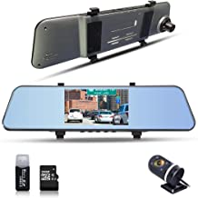 1296P Mirror Cam Dual Lens Dashboard Camera with 170° Wide Angle 5